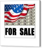 America For Sale Canvas Print