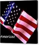 America Greeting Card Canvas Print