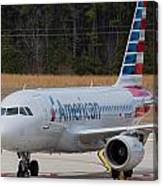 American Airlines A319 Canvas Print