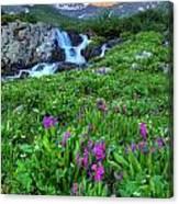 American  Basin Waterfall Canvas Print
