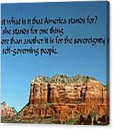 American Belief Canvas Print