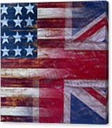 American British Flag Canvas Print
