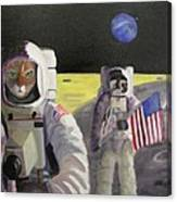 American Cat Astronauts Canvas Print