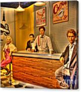 American Cinema Icons - 5 And Diner Canvas Print