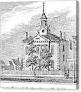 American Courthouse, 1844 Canvas Print