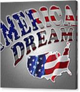 American Dream Digital Typography Artwork Canvas Print