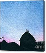 American Farm #1 Silhouette Canvas Print