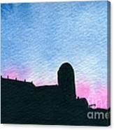 American Farm #2 Silhouette Canvas Print