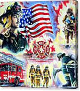American Firefighters Canvas Print