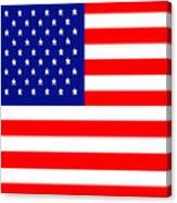 American Flag . Square Canvas Print