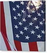 American Flag - 01131 Canvas Print