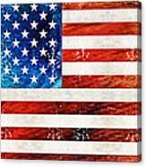 American Flag Art - Old Glory - By Sharon Cummings Canvas Print
