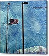 American Flag As A Painting Canvas Print