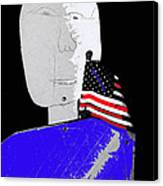 American Flag Collage Tucson Arizona Mid 1980's-2013 Canvas Print