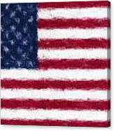 American Flag Embossed Canvas Print
