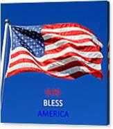 American Flag - God Bless America Canvas Print