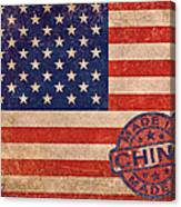 American Flag Made In China Canvas Print