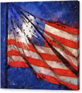 American Flag Photo Art 02 Canvas Print