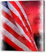 American Flag Photo Art 07 Canvas Print