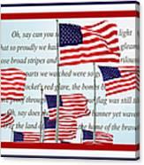 American Flag Tribute  Canvas Print