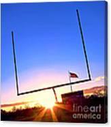 American Football Goal Posts Canvas Print