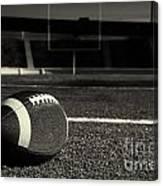 American Football On Field Canvas Print