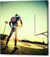 American Football Player Canvas Print