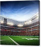 American Football Stadium Arena Vertical Canvas Print