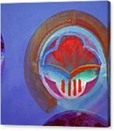 American Gothic Button Canvas Print