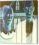 American Gothic In Negative Canvas Print