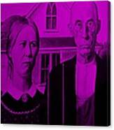 American Gothic In Purple Canvas Print
