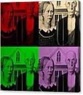 American Gothic In Quad Colors Canvas Print
