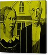 American Gothic In Yellow Canvas Print