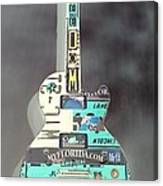 American Guitar In Neagtive Canvas Print