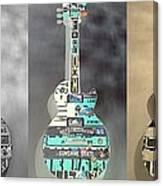 American Guitars 5 Canvas Print