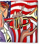 American Jazz Man Canvas Print