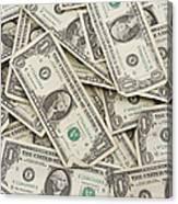 American One Dollar Bills Canvas Print