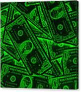 American One Dollar Bills Pop Art Canvas Print