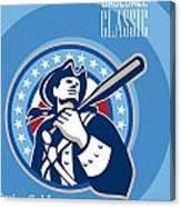 American Patriot Pro Baseball Classic Poster Retro Canvas Print