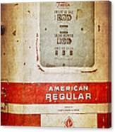 American Standard - Vintage Fuel Pump - Casper Wyoming Canvas Print