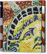 American Statue Of Liberty Mosaic  Canvas Print