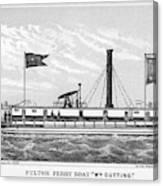 American Steamboat, 1827 Canvas Print