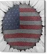 American Sunflower Power Canvas Print