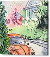 American Town Canvas Print