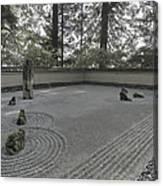 American Zen Rock And Raked Gravel Garden - Portland Oregon Canvas Print
