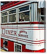 Americana Classic Dinner Booth Service Canvas Print