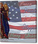 Americana Military Christmas 1 Canvas Print