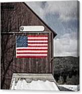 Americana Patriotic Barn Canvas Print