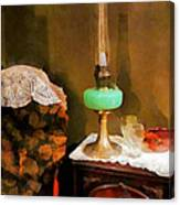 Americana - Still Life With Hurricane Lamp Canvas Print