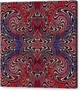 Americana Swirl Banner 3 Canvas Print